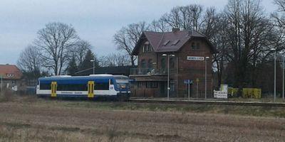 Bahnhof Lindenberg (Mark) in Tauche