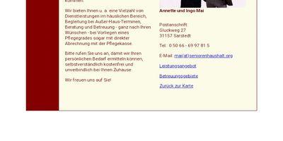 Senioren-Haushaltsdienstleistungen Ingo Mai in Sarstedt
