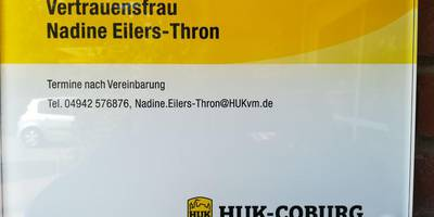 Huk-Coburg Vertrauensfrau Nadine Eilers-Thron in Südbrookmerland