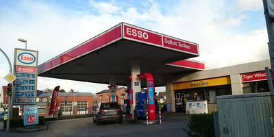 Esso Station Berendt in Reinfeld in Holstein