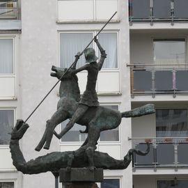 Bild zu Stadtpatron St. Georg - Skulptur in Hattingen an der Ruhr