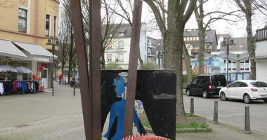 Leben und Arbeit - Skulptur auf dem Langendreer Stern in Langendreer Stadt Bochum