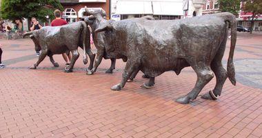 Ochsengruppe - Skulptur in Lünen