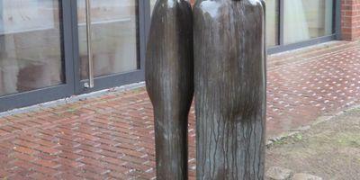 'Schachfiguren' - Skulptur in Lüdinghausen