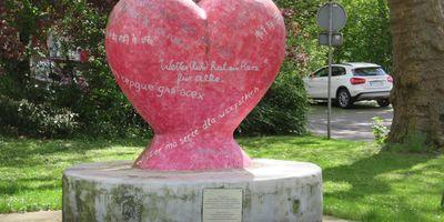 Herz-Skulptur - Ferienprojekt in Wetter an der Ruhr
