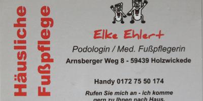Elke Ehlert, Podologin in Holzwickede