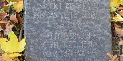 Gedenkstätte zur Erinnerung an den zerstörten jüdischen Friedhof in Dortmund