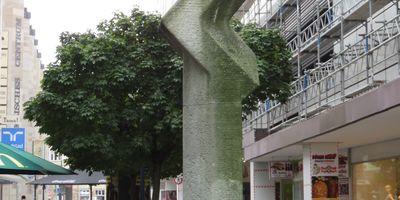 Pflanze - Steinstele und Steinblöcke in Dortmund