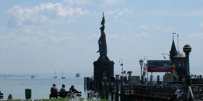 Imperia - Statue im Hafen von Konstanz in Konstanz