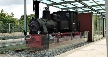 Lokomotivdenkmal Walhallabockerl in Regensburg