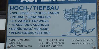 Aumer Bau GmbH in Weihern Stadt Wörth an der Donau