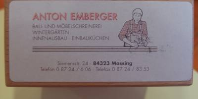 Emberger Anton Schreinerei in Massing