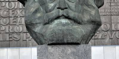 Karl-Marx-Monument in Chemnitz in Sachsen
