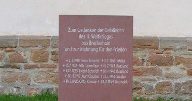 Deutsches Kriegerdenkmal Breitenhain in Neustadt an der Orla Breitenhain