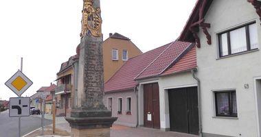 Kursächsische Postmeilensäule Brück in Brück in Brandenburg