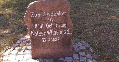 Gedenkstein für Kaiser Wilhelm I. in Groß Schulzendorf Stadt Ludwigsfelde