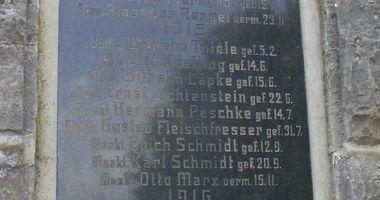 Deutsches Kriegerdenkmal Neu Zittau in Neu Zittau Gemeinde Gosen Neu Zittau