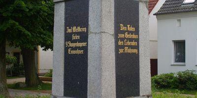 Deutsches Kriegerdenkmal Stangenhagen in Stangenhagen Stadt Trebbin