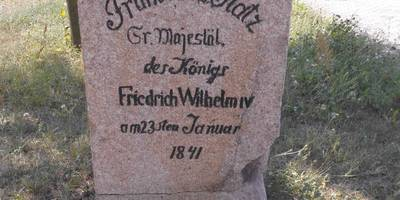 """Gedenkstein """"Frühstücksstein"""" Neuenhagen in Neuenhagen Stadt Bad Freienwalde"""