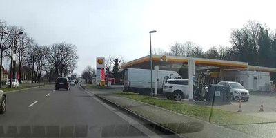 SHELL Tankstelle Vogelsdorf an der B1/B5 in Vogelsdorf Gemeinde Fredersdorf-Vogelsdorf