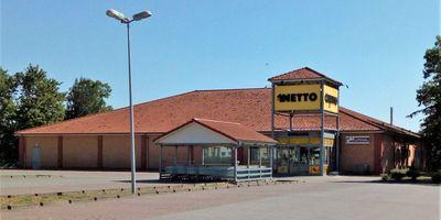 Netto Deutschland - schwarz-gelber Discounter mit dem Scottie in Müncheberg