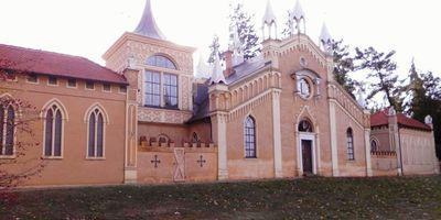 Gotisches Haus im Wörlitzer Park in Oranienbaum-Wörlitz Wörlitz