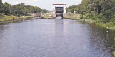Schleuse Lehnitz (Lehnitzschleuse) in Oranienburg