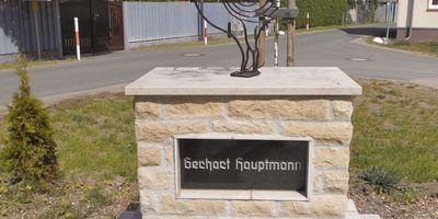 Gerhart Hauptmann-Denkmal Kienbaum in Kienbaum Gemeinde Grünheide in der Mark