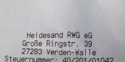 Heidesand Raiffeisen-Warengenossenschaft eG Raiffeisen-Tankstelle in Verden-Walle