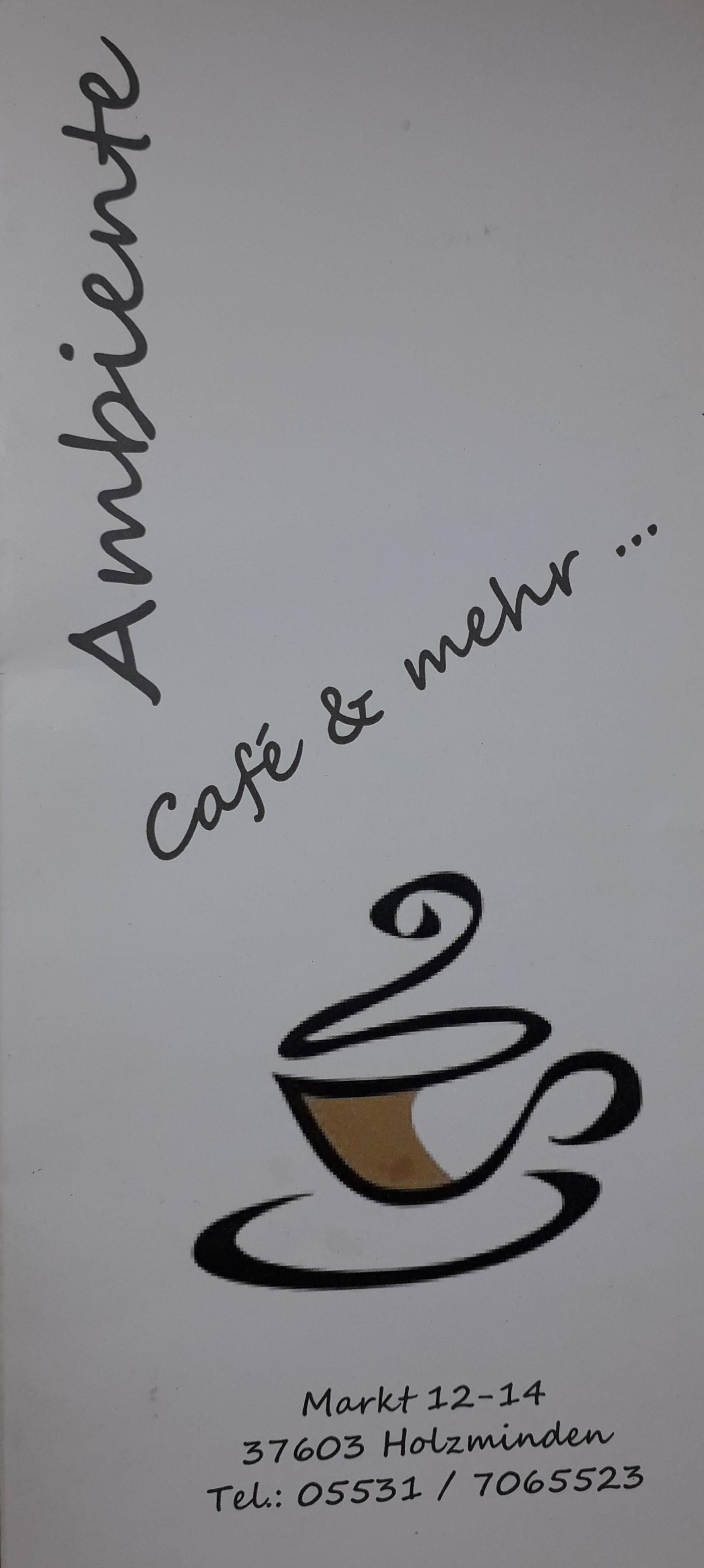 Ambiente Cafe Und Mehr 37603 Holzminden Offnungszeiten Adresse Telefon