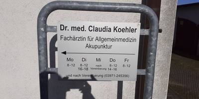 Koehler Claudia Dr. Fachärztin für Allgemeinmedizin in Anklam
