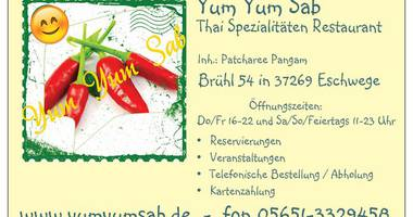 Yum Yum Sab - Thai Spezialitäten Restaurant in Eschwege