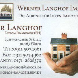 Werner Langhof Immobilien in Fürth in Bayern