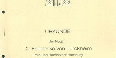Hellermann Alice Dr., Türckheim Friederike von Dr., Notarinnen in Hamburg