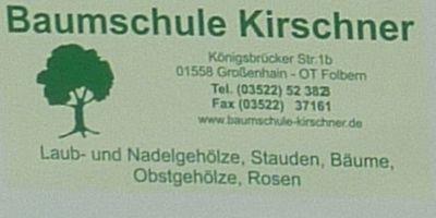 Baumschule K. Kirschner in Großenhain Folbern
