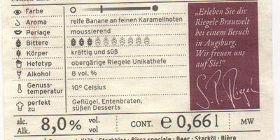 Brauerei S. Riegele Inh. Riegele KG in Augsburg