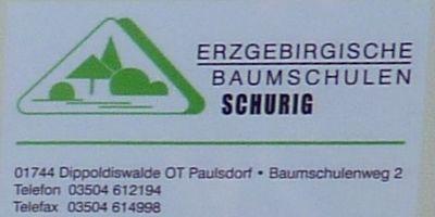 BAUMSCHULE SCHURIG in Paulsdorf Stadt Dippoldiswalde