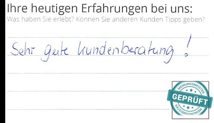 Ein Kunde vor Ort hat Grimm Küchen Karlsruhe 5.0 Sterne gegeben.
