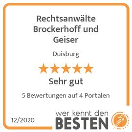 Rechtsanwälte Brockerhoff und Geiser in Duisburg
