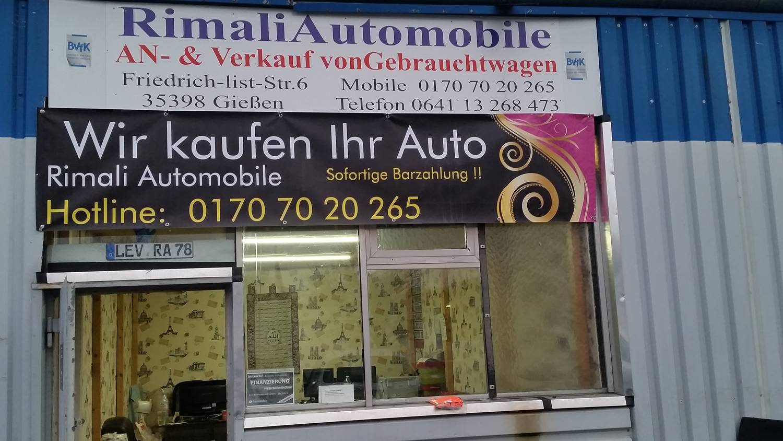 Wir kaufen dein auto gießen