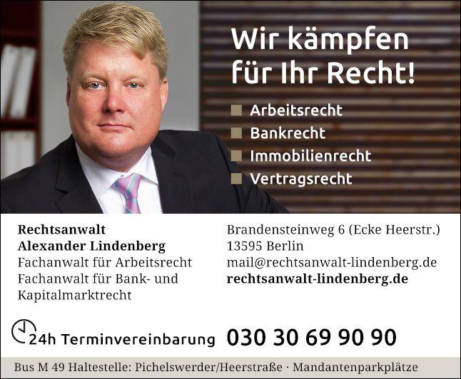 Alexander Lindenberg Rechtsanwalt 2 Bewertungen Berlin